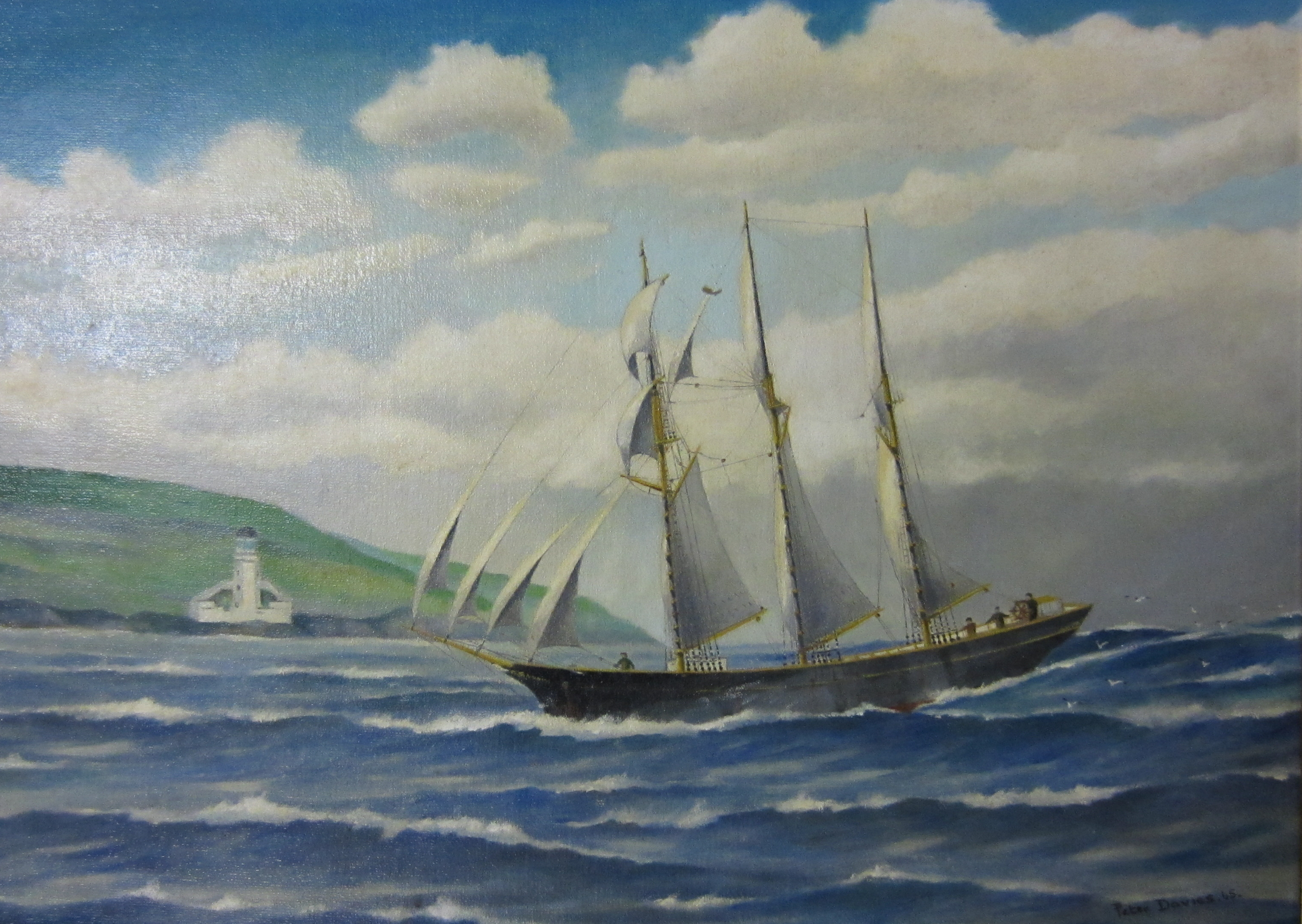 The Trevellas, a 3-masted schooner launched at Trevaunance Cove in 1876
