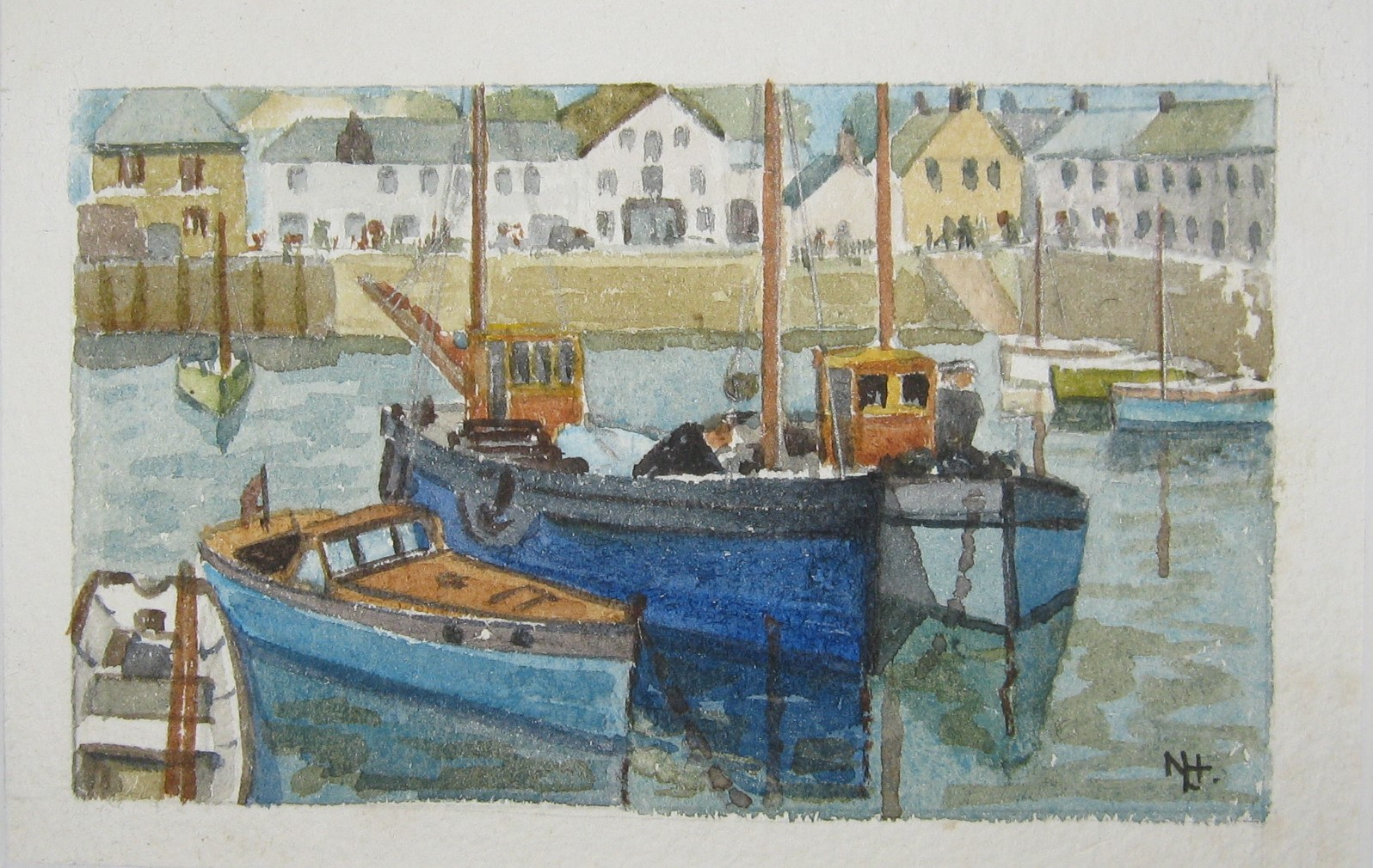 Cornish harbour by Nancy Lanyon Homer